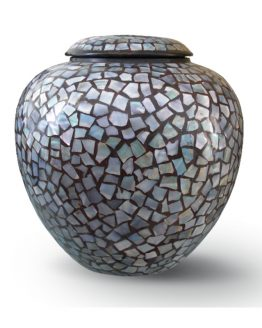 Cremation Vase for Ashes painted Mosaic