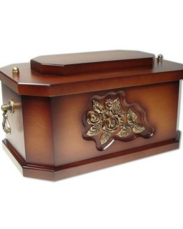Solid Wood Classic Ashes Casket Dark Stain