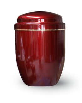 Aluminium Cremation Ashes Urn Red