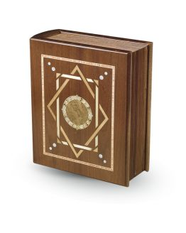 Mahogany Cremation Casket Book Charmed