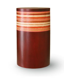 Mango Wood Cremation Urn Red