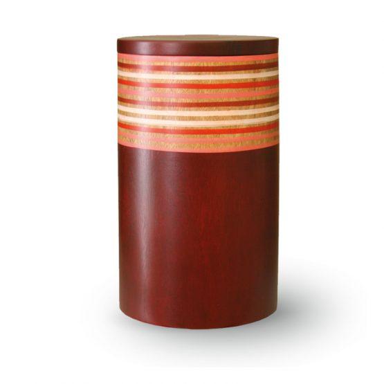 Mango Wood Cremation Urn Red