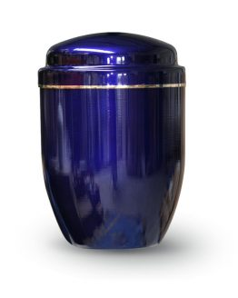 Aluminium Cremation Urn Blue