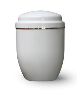 Aluminium Cremation Ashes Urn White