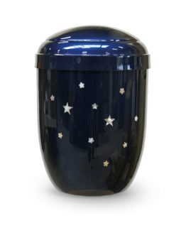 Metal Cremation Urn for Ashes Blue Stars