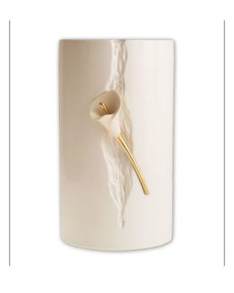 Ceramic Cremation Urn Lily in Statue White