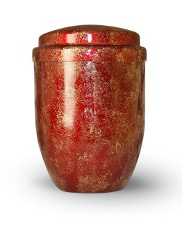Metal Cremation Urn for Ashes Red