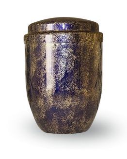 Metal Cremation Urn for Ashes Blue