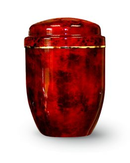 Aluminium Cremation Urn Fire Red