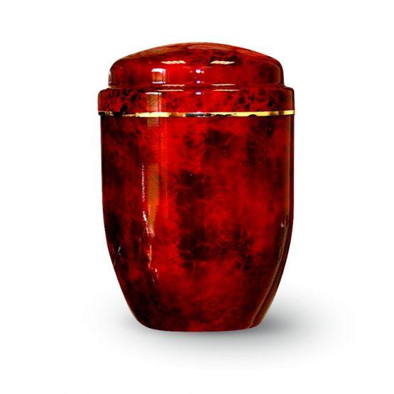 Aluminium Cremation Urn Fire Red
