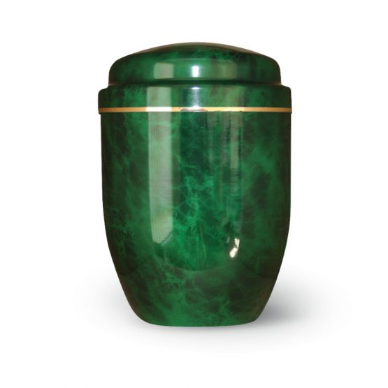 Aluminium Cremation Urn Green