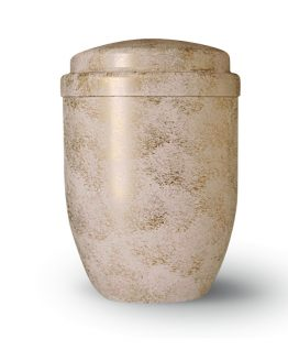 Metal Cremation Urn for Ashes White