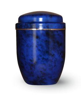 Aluminium Cremation Urn Blue and Black