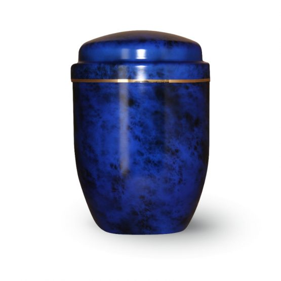 Aluminium Cremation Urn Blue and Black