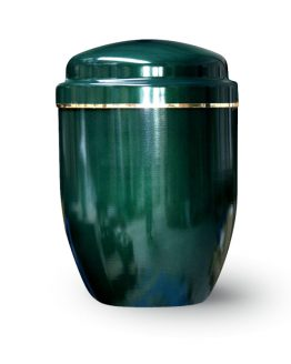 Aluminium Cremation Ashes Urn Green