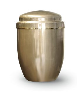 Aluminium Cremation Ashes Urn Gold