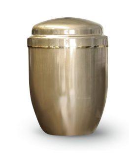 Aluminium Cremation Ashes Urn Gold