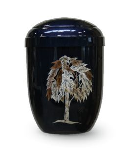 Metal Cremation Urn for Ashes Blue Tree