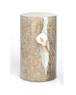 Ceramic Cremation Urn Lily in Statue Marble