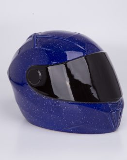 Bikers Helmet Unique Cremation Urn Blue