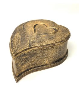 Composite Stone Cremation Urn Heart Bronze