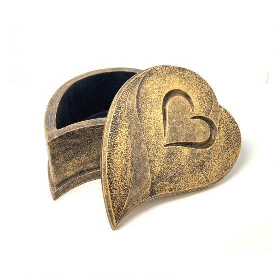 Composite Stone Cremation Urn Heart Bronze