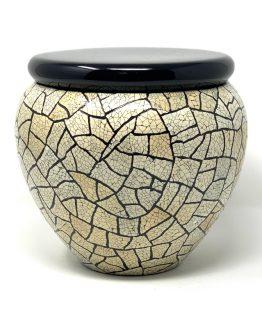 Fibreglass Cremation Ashes Urn Mosaic Decoration