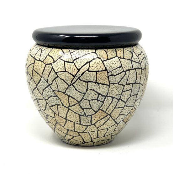 Fibreglass Cremation Ashes Urn Mosaic Decoration