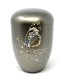 Unique Biodegradable Urn for Ashes Hand-painted Butterfly