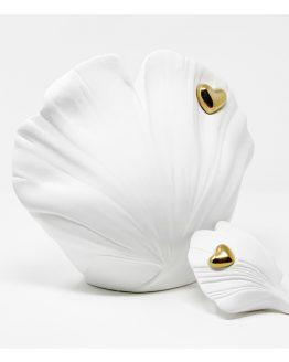 Cremation Urn for Ashes Unique Ceramic Milorah Leaf